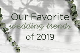 Our 10 Favorite Wedding Trends of 2019. Mobile Image